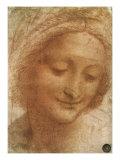 Sketch of Saint Anne, 1500 Giclée-Druck von  Leonardo da Vinci