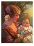 Mother and Baby, 1934 Giclee Print by Gene Pressler