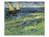 Seascape at Saintes-Maries, 1888 Giclee Print by Vincent van Gogh