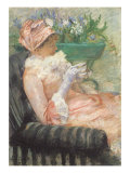 Sipping Tea on Loveseat, 1879 Giclee Print by Mary Cassatt