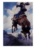 Bucking, 1904 Giclee Print by Newell Convers Wyeth