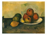 Study of Apples, Lemon, 1890 Giclee Print by Paul Cezanne