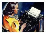 Woman at Typewriter, 1939 Giclee Print