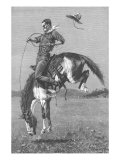 One Man Rodeo, 1888 Giclee Print by Frederic Sackrider Remington