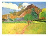 Paesaggio di Tahiti, 1891 Stampa giclée di Paul Gauguin