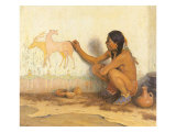 Indian Artist, 1920 Giclee Print by Eanger Irving Couse
