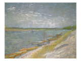 Boats Beached Ashore, 1887 Giclee Print by Vincent van Gogh