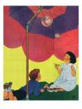 Children Making Bubbles, 1933 Giclee Print by Miriam Story Hurford