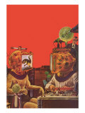 Sci Fi - Projection Helmets, 1929 Giclee Print by Frank R. Paul