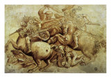 The Battle of Anghiari, 1500 Giclee Print by  Leonardo da Vinci