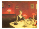 The Dinner Table at Night, 1884 Giclee Print by John Singer Sargent