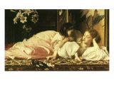 Girl Feeds Mom Cherries, 1865 Giclée-Druck von Frederick Leighton