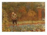 Gardener and Cabbages, 1870 Giclee Print by Frederick Walker