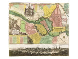 Map of Berlin City. 1740 Giclee Print by Georg Matthaus Seutter