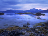 Black Cuillins Range from the Shores of Loch Eishort, Isle of Skye, Inner Hebrides, Scotland, UK Photographic Print by Patrick Dieudonne