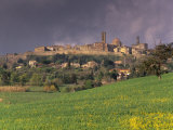 Medieval and Etruscan City of Volterra after a Storm, Tuscany, Italy, Europe Photographic Print by Patrick Dieudonne