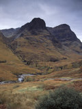 Glencoe Pass, Impressive Landmark and Site of the Massacre of Glencoe, Highland Region, Scotland Photographic Print by Patrick Dieudonne