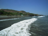 Sea Front at La Libertad on Pacific Coast, El Salvador, Central America, Photographic Print
