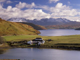 Gesto House, Loch Harport and Snow on Black Cuillins, Isle of Skye, Inner Hebrides, Scotland, UK Photographic Print by Patrick Dieudonne