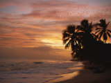 Sunset over Worthing Beach, Christ Church, Barbados, West Indies, Caribbean, Central America Photographic Print by Robert Francis