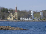 Three Churches, Mahone Bay, Nova Scotia, Canada, North America Photographic Print by Ethel Davies