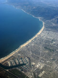 Aerial View of Los Angeles with Marina Del Rey Below, California, USA Photographic Print by Ethel Davies