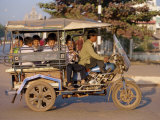 Jumbo Motorcycle Taxi, Vientiane, Laos, Indochina, Southeast Asia Photographic Print by Alain Evrard