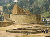 Ceremonial Plaza and the Temple of the Sun, Ingapirca, Canar Province, Southern Highlands, Ecuador Photographic Print by Robert Francis