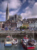 Cobh Harbour and St. Colman's Cathedral, Cobh, County Cork, Munster, Republic of Ireland Photographic Print by Patrick Dieudonne
