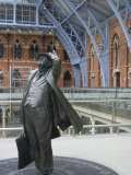 John Betjeman Statue, St. Pancras International Train Station, London, England, United Kingdom Photographic Print by Ethel Davies