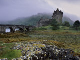 Eilean Donan Castle, Standing Where Three Lochs Join, Dornie, Highland Region, Scotland, UK Photographic Print by Patrick Dieudonne