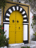 Door, Sidi Bou Said, Near Tunis, Tunisia, North Africa, Africa Photographic Print by Ethel Davies