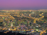 City by Night, Cape Town, South Africa, Africa Photographic Print by Alain Evrard