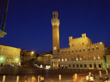 Palazzo Pubblico, Piazza Del Campo, Siena, UNESCO World Heritage Site, Tuscany, Italy, Europe Photographic Print by Patrick Dieudonne