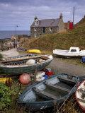 Crovie, Tiny Fishing Village, North Coast, Aberdeenshire, Scotland, United Kingdom, Europe Photographic Print by Patrick Dieudonne