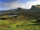 Slopes of the Quiraing, Northeast Coast of Trotternish Peninsula, Isle of Skye, Scotland Photographic Print by Patrick Dieudonne