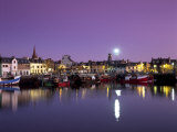 Stornoway Harbour at Dusk, Lewis, Outer Hebrides, Scotland, United Kingdom, Europe Photographic Print by Patrick Dieudonne