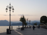 Lakeside Evening at Lazise, Lake Garda, Veneto, Italy, Europe Photographic Print by James Emmerson