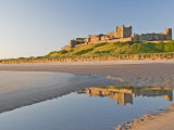 Morning Light on the Beach at Bamburgh Castle, Northumberland, England, United Kingdom, Europe Photographic Print by James Emmerson
