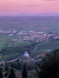 View from the Town at Sunset, Cortona, Tuscany, Italy, Europe Photographic Print by Patrick Dieudonne