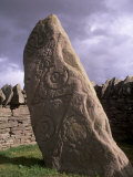 Stone with Pictish and Early Christian Symbols, Aberlemno Pictish Stones, Aberlemno, Scotland Photographic Print by Patrick Dieudonne
