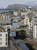 Old Town and Harbour at Alesund, Norway, Scandinavia, Europe Photographic Print by James Emmerson