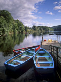 Boats and Lake, Pitlochry, Perth and Kinross, Central Scotland, Scotland, United Kingdom, Europe Reproduction photographique par Patrick Dieudonne