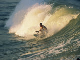 Riding the Tubes, Battery Beach Surfing, Indian Ocean, South Africa, Africa Photographic Print by Alain Evrard