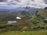 Slopes of the Quiraing, Northeast Coast of Trotternish Peninsula, Isle of Skye, Scotland Photographic Print by Patrick Dieudonne