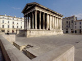 Maison Carree, Roman Temple from 19 BC, Nimes, Languedoc, France, Europe Photographic Print by Ethel Davies