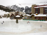 Ice Rink at Copper Mountain Ski Resort, Rocky Mountains, Colorado, USA Photographic Print by Richard Cummins