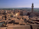 Piazza Del Campo and Palazzo Pubblico, Siena, UNESCO World Heritage Site, Tuscany, Italy, Europe Photographic Print by Patrick Dieudonne