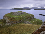 Ruins of Dun Ardrek, Guarding the Entrance of Loch Harport, Near Portnalong, Isle of Skye, Scotland Photographic Print by Patrick Dieudonne