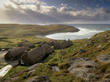 Black Houses Village, Restored, Garenin, Isle of Lewis, Outer Hebrides, Scotland, UK Photographic Print by Patrick Dieudonne
